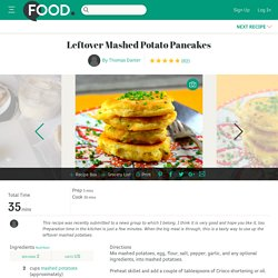 Leftover Mashed Potato Pancakes Recipe