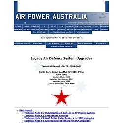 Legacy Air Defence System Upgrades