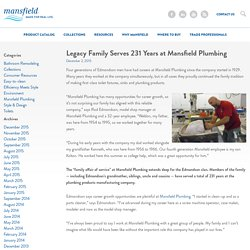 Legacy Family Serves 231 Years at Mansfield Plumbing