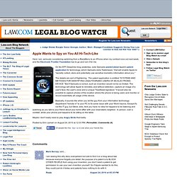 Legal Blog Watch