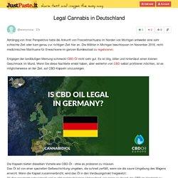Legal Cannabis in Deutschland