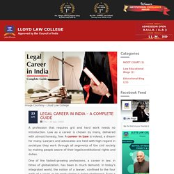 Legal Career in India – A Complete Guide