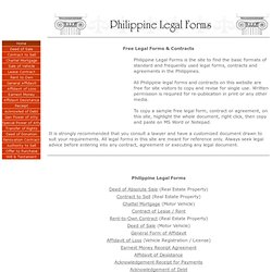 Free Legal Forms & Contracts - Philippines-Mozilla Firefox