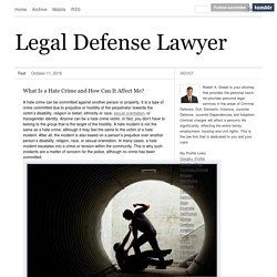 Legal Defense Lawyer
