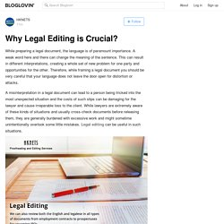 Why Legal Editing is Crucial?