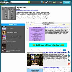 Legal History WebRing