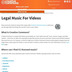 Legal Music For Videos