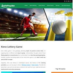Legal Online Keno Game India