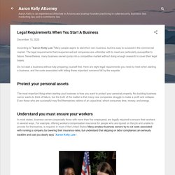 Legal Requirements When You Start A Business