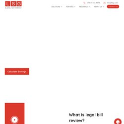 Cost of Legal Bill Review & Audit Services - LSG