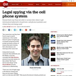 Legal spying via the cell phone system