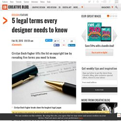 5 legal terms every designer needs to know