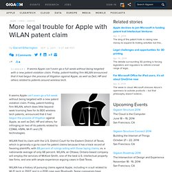 More legal trouble for Apple with WiLAN patent claim — Apple News, Tips and Reviews
