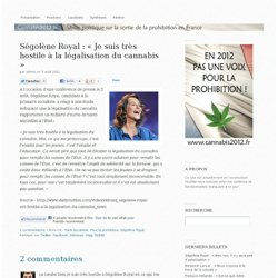 Ségolène Royal : « Je suis très hostile à la légalisation du cannabis »