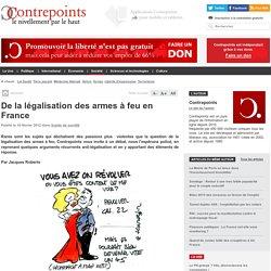 De la légalisation des armes à feu en France