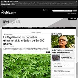 La légalisation du cannabis entraînerait la création de 38.000 postes