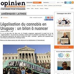 Légalisation du cannabis en Uruguay : un bilan à nuancer