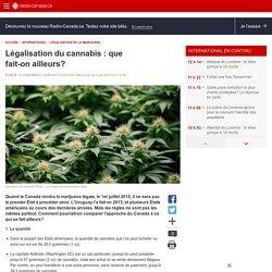 Légalisation du cannabis: que fait-on ailleurs?