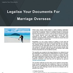 Legalise Your Documents