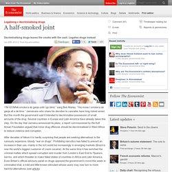 Legalising v decriminalising drugs: A half-smoked joint