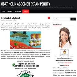 Legalitas QnC Jelly Gamat - Obat Kolik Abdomen (Kram Perut)