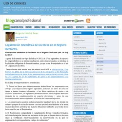 Legalización telemática de los libros en el Registro Mercantil.