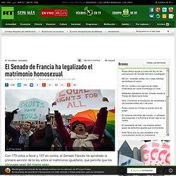 El Senado de Francia ha legalizado el matrimonio homosexual