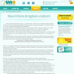 Noul model de incheiere de legalizare a traducerii