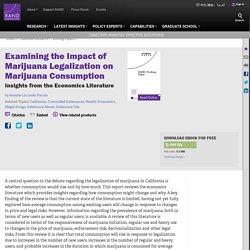 Examining the Impact of Marijuana Legalization on Marijuana Consumption: Insights from the Economics Literature