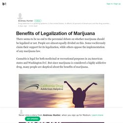 Benefits of Legalization of Marijuana