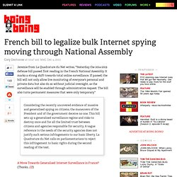 French bill to legalize bulk Internet spying moving through National Assembly