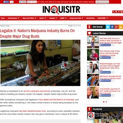 Legalize It: Nation's Marijuana Industry Burns On Through