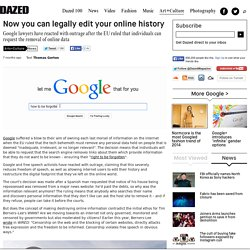 Now you can legally edit your online history