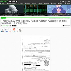 Man Legally Changes Name to Captain Awesome