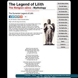 The Sumerian Legend of Lilith
