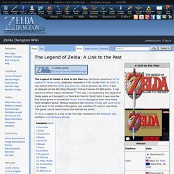 The Legend of Zelda: A Link to the Past - Zelda Dungeon Wiki