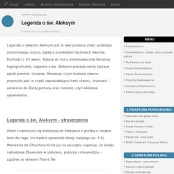 Legenda o św. Aleksym - klp.pl