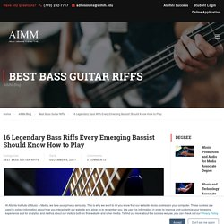 16 Legendary Bass Riffs Every Emerging Bassist Should Know How to Play