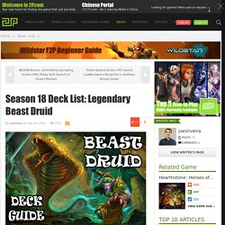 Season 18 Deck List: Legendary Beast Druid - Hearthstone: Heroes of Warcraft - news,hub