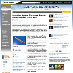 Legendary Swords' Sharpness, Strength From Nanotubes, Study Says