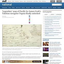 'Legendary' map of Pacific by James Cook's Tahitian navigator Tupaia finally unlocked