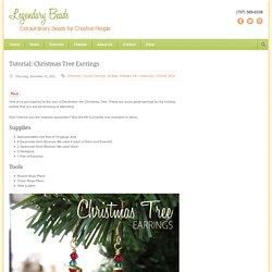 Legendary Beads » Tutorial: Christmas Tree Earrings