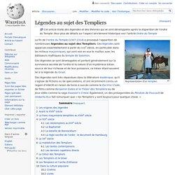 Légendes au sujet des Templiers