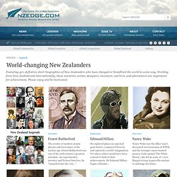 Legends — World-changing New Zealanders