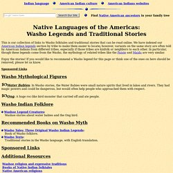 Washo Legends (Folklore, Myths, and Traditional Washoe Indian Stories)
