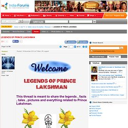 LEGENDS OF PRINCE LAKSHMAN
