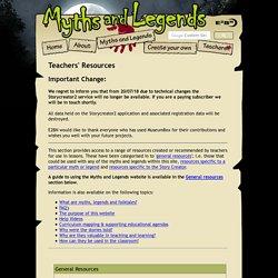 Myths and legends teachers' resources