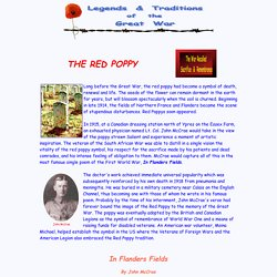 The Legends and Traditions of the Great War: The Red Poppy