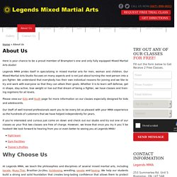 About Legends MMA – Mixed Martial Arts Training in Brampton