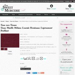 Tissu Maille Milano Lourde Bordeaux Légèrement Brillant pas cher sur thesweetmercerie.com, mercerie